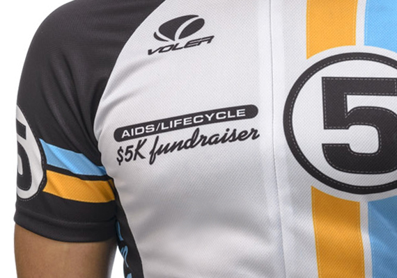 Cycling jerseys for AIDS/LifeCycle, a fundraising ride from San Francisco to Los Angeles