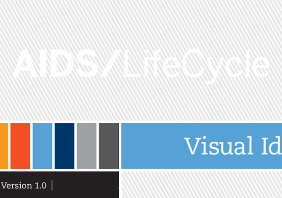 Visual identity guide for AIDS/LifeCycle, a ride to end AIDS from San Franciso to Los Angeles