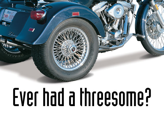 Ad for Lehman Trikes, a premier manufacturer of motorcycle three-wheel conversion kits